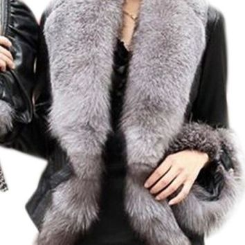 Chicloth Patchwork Fur Collar Fabulous Overcoats