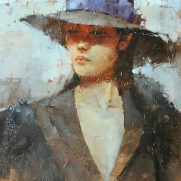Andre Kohn On the theme of Blue [Andre Kohn_A7184] - $99.00 oil painting for sale Wonderful artwork Buy it at once.