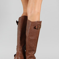 Breckelle Rocker-14 Buckle Riding Knee High Boot