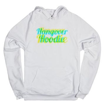 Hangover Hoodie (Blue and Yellow)-Unisex White Hoodie