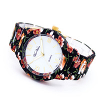 Flower print watch (5 colors)