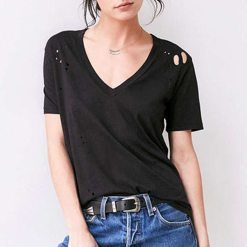Truly Madly Deeply Suki Destructed Tee - Urban Outfitters