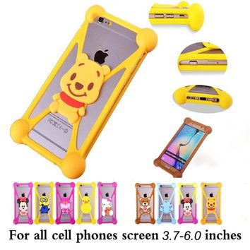 "Cute Cartoon hello kitty Batman Stitch SpongeBob Cover Cases For Alcatel Flash 2 Go Play Hero Idol 3 4.7"" 5.5"" 3C PIXI First 4"""