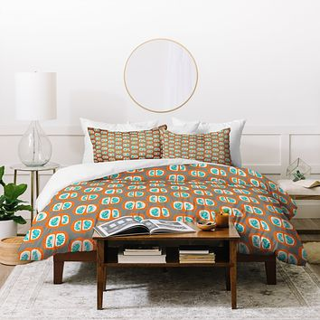 Mummysam Orange Pomegranate Duvet Cover