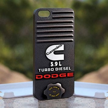 Dodge Cummins Turbo Diesel, Print on Hard Cover iPhone 4,4S Black Case, iPhone 5 case, samsung galaxy s3