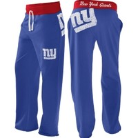 G-III Women's New York Giants Blue Recruit Boyfriend Pants - Dick's Sporting Goods