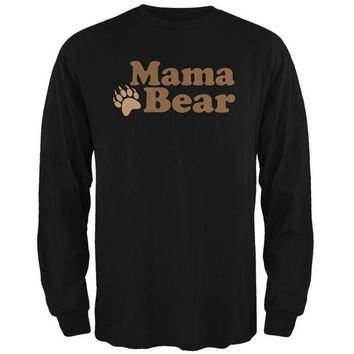 LMFCY8 Mothers Day - Mama Bear Black Adult Long Sleeve T-Shirt