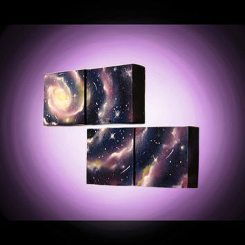 Galaxy Painting -  Oil Painting - Original Art - Spray Paint Art - Space painting - Stars - Universe - Art - Paintings on Canvas -