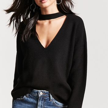 Cutout Boxy Sweater