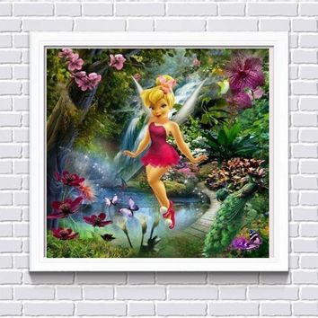 5D Diamond Painting Red Dress Tinkerbell Kit