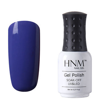 HNM Soak Off Color 1465-He Loves Me He Loves Me Not  Gel Nail Polish Base Top Coat UV LED Manicure 8ML