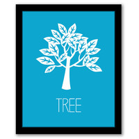 Tree Wall Art, Nursery Wall Art, Blue Nursery, Nature, Kids Room, Girls Room, Kids Wall Art, Boys Nursery, Playroom Art, INSTANT DOWNLOAD