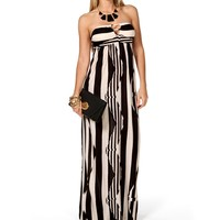 Sale-bar Front Maxi Dress