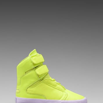 Supra Society Sneaker in Fluorescent Yellow