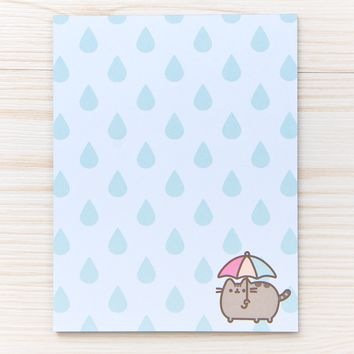 Rainy Day Pusheen notepad