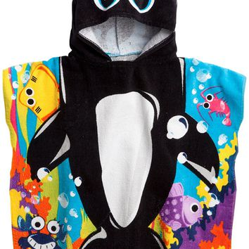 Northpoint Cute Orca Whale Kids Hooded Beach Towel