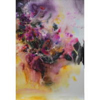 Large abstract watercolor flowers - abstract flowers watercolor by Yuri Pysar