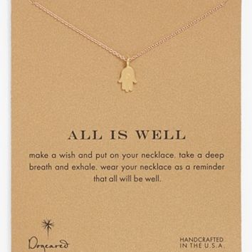 Women's Dogeared 'Reminder - All is Well' Boxed Hamsa Pendant Necklace - Hamsa-