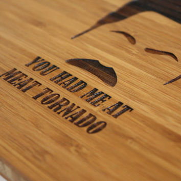 Ron Swanson - Parks and Rec - You Had Me at Meat Tornado Cutting Board - Inspired by Ron Swanson - Parks and Recreation