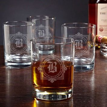 Winchester Personalized Whiskey Glasses, Set of 4