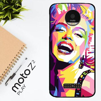 Andy Warhol Marilyn Monroe Pop Art Y0372 Motorola Moto Z2 Play Case