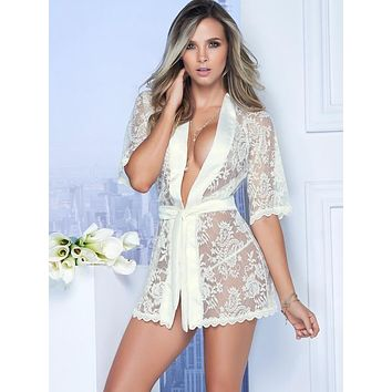 Babydoll Lace Robe G-String