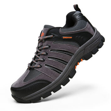 Permeable Couple Men Low-cut Outdoors Hiking Shoes = 6450817091