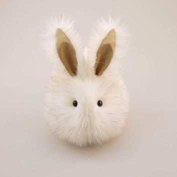 Angel the White and Gold Bunny Stuffed Animal Plush Toy