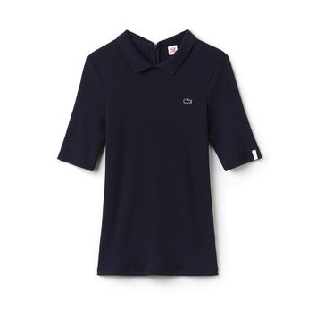 Women's Lacoste LIVE Slim Fit Ribbed Polo