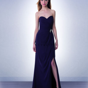 Bill Levkoff Long Chiffon Bridesmaid Dress 986