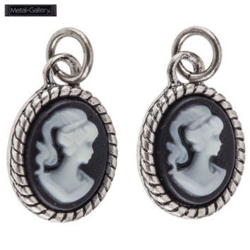 Antique Silver Cameo Earring Pendants | Hobby Lobby | 377721