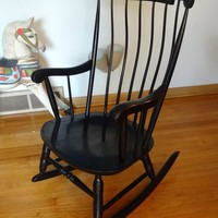 Nichols & Stone Black Rocking Chair