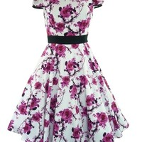 Tiger Milly Women's H&R London 50's Floral Vintage Dress