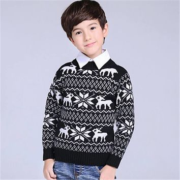 1-15Y Autumn Winter Boy Girl Sweater Pullover Children Clothing Baby Sweater Pull Fille Knitting Christmas Kids Clothes Sweaters