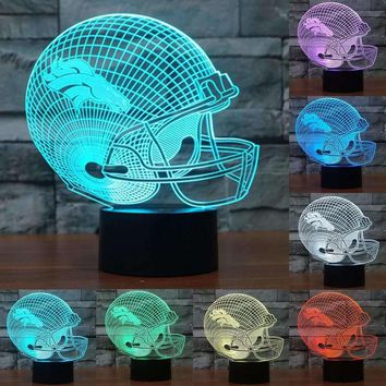 Denver Broncos 3D Night Light 7 color changing acrylic USB table desk Lamp