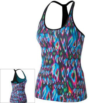 asics abby scoopneck t back workout tank women s size  number 1