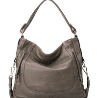 Fashion Designer Inspired Women's Shoulder Bag Grey Hobo