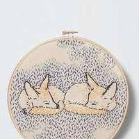 Woodland Creature What Does the Fox Dream? Embroidery Kit by ModCloth