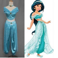 Halloween Cosplay Party Wedding sexy Aladdin Princess Jasmine Costume Adults costumes for women kids adult children child grils