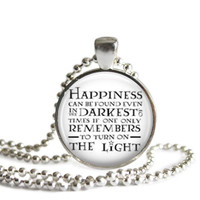Dumbledore Happiness Quote Necklace Handmade Harry Potter Jewelry
