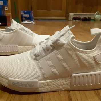 Size 12 New Adidas NMD R1 Triple White S79166 Nomad Runner NMD_R1 Monochrome DS