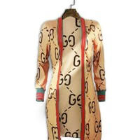 GUCCI Classic Fashion Women Cardigan Sweater Long Coat Cardigan