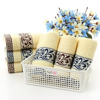 33*73cm high quality Jacquard Cotton Hand Towels,Solid Decorative Elegant Embroidered Face Bathroom Hand Towels