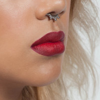 Silver Tribal Faux Septum