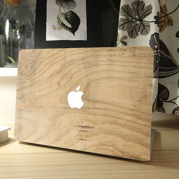 Wood Grain Full Front Cover for MacBook