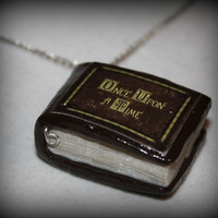 Polymer Clay Once Upon a Time Inpired Mini Story Book Necklace