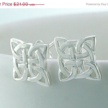 40% Off Celtic,Stud earrings,stud,silver earrings,handmade,unique,silver,925 sterling silver,sign earring,unique,power,chic