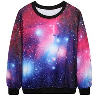 ERLKING Unisex Long Sleeve Digital Print Galaxy Sweatshirts