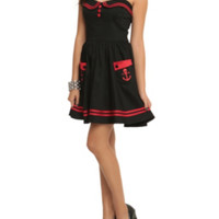 Hell Bunny Red And Black Sailor Dress