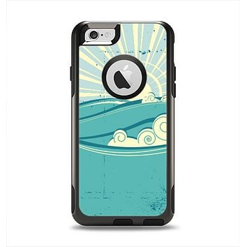 The Retro Vintage Vector Waves Apple iPhone 6 Otterbox Commuter Case Skin Set